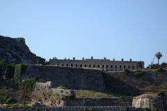 Oude Vesting in Kerkyra, het eiland van Korfu royalty-vrije stock foto