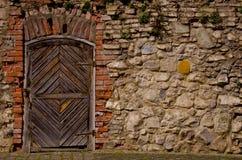 Oude vestingsdeur Stock Foto's