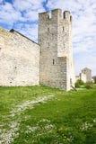 De toren van de vesting in Visby Zweden stock fotografie