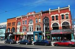 Oude Victoriaanse gebouwen in Toronto Stock Afbeelding