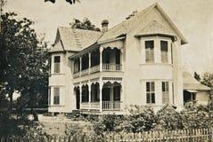 Oude Victoriaanse Huis/Wijnoogst Stock Afbeeldingen