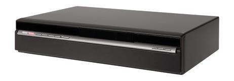 Oude videocassetterecorder op het wit stock foto's