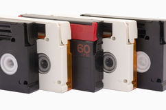 Oude videocassettes Stock Foto's