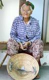 Oude Vietnamese vrouw Royalty-vrije Stock Fotografie