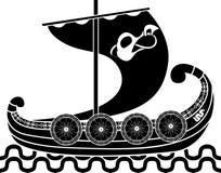Oude Vikingen verschepen Stock Afbeelding