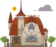 Oude villa Vector Illustratie