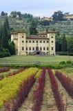 Oude villa dichtbij Pistoia (Toscanië) royalty-vrije stock afbeelding