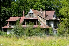 Oude Villa genoemd Borek in Zakopane stock fotografie