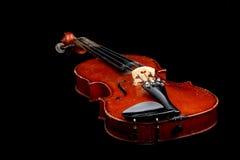 Oude viool stock afbeelding