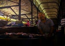 Oude Vishandelaar Royalty-vrije Stock Foto's
