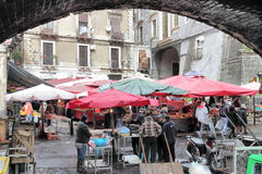 Oude vissenmarkt van Catanië Royalty-vrije Stock Fotografie