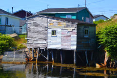 Oude visserij afgeworpen in Burgeo Newfoundland Royalty-vrije Stock Foto's