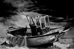 Oude Vissersboot Royalty-vrije Stock Foto's