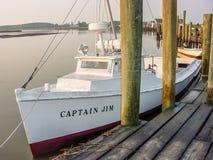 Oude Vissersboot Stock Foto