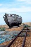 Oude Vissersboot Dungeness Royalty-vrije Stock Fotografie