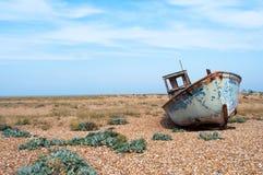 Oude Vissersboot Dungeness Royalty-vrije Stock Afbeelding