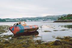Oude Vissersboot, Schotland Stock Fotografie