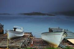 Oude vissersboot twee stock afbeelding