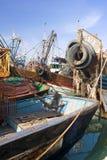 Oude vissersboten Stock Foto's