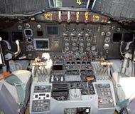 Oude vliegtuigcockpit Stock Foto