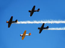 Oude vliegtuigen Stock Afbeeldingen