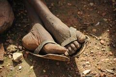 Oude voeten Stock Afbeeldingen