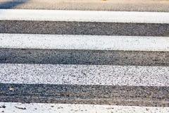 Oude voetgangersoversteekplaats - zebra Stock Foto
