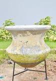 Oude voorhistorische pot Stock Foto