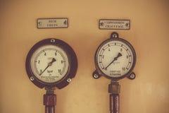 Oude voortbewegingsmeters in België Stock Foto