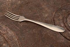 Oude vork Stock Fotografie