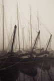 Oude vrachtboten royalty-vrije stock foto's