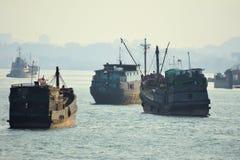 Oude vrachtschepen Royalty-vrije Stock Foto's