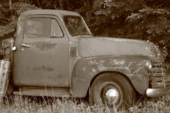 Oude Vrachtwagen Grunge Royalty-vrije Stock Foto's