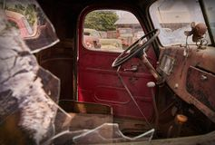 Oude vrachtwagencabine Royalty-vrije Stock Foto