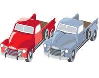 Oude vrachtwagens vector illustratie