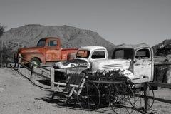 Oude Vrachtwagens Stock Afbeelding