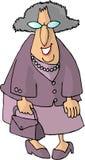 Oude vrouw met een beurs Stock Foto