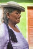 Oude Vrouw in Traditionele Kleding van Tarija Royalty-vrije Stock Foto