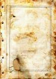 Oude vuile document pagina Royalty-vrije Stock Afbeeldingen