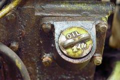 Oude vuile motormotor Stock Fotografie