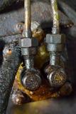 Oude vuile motormotor Royalty-vrije Stock Foto