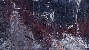 Oude vuile ruwe geschilderde gepelde gekraste metaaloppervlakte 5 Royalty-vrije Stock Fotografie
