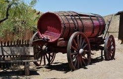Oude vuurwaterwagen Stock Foto