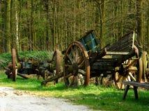 Oude wagen. stock afbeelding