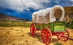 Oude wagen in Brits Colombia Canada stock foto