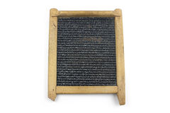 Oude washboard op witte achtergrond Stock Fotografie