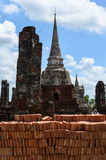 Oude wat in Thailand Royalty-vrije Stock Fotografie