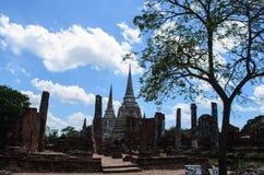 Oude wat in Thailand Stock Afbeeldingen