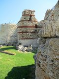 Oude watchtower in Nessebar, Bulgarije Royalty-vrije Stock Fotografie