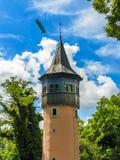 Oude watchtower op bloemeiland Mainau, Duitsland royalty-vrije stock foto's